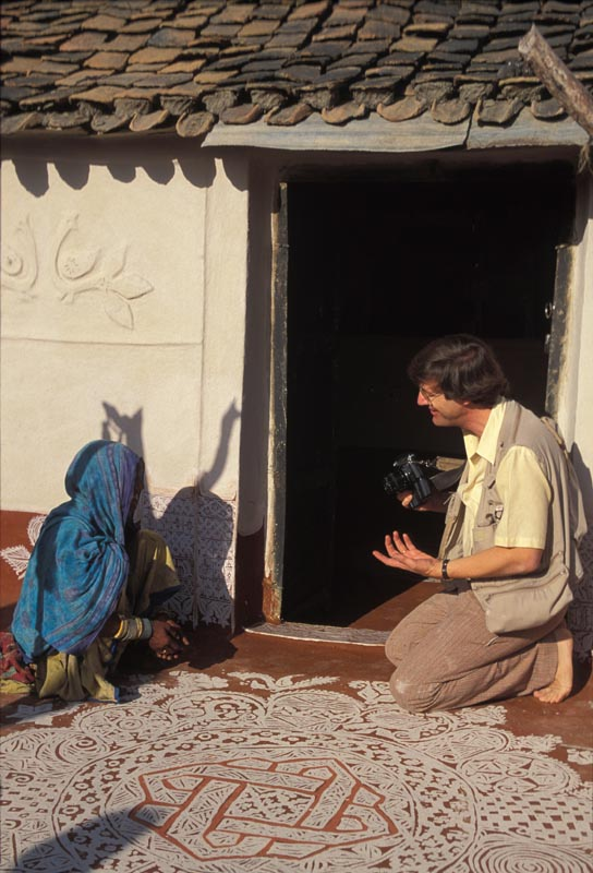 Conducting field research throughout India on rural women's art