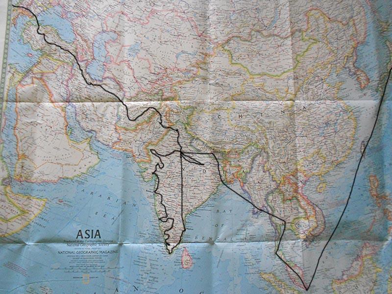 September left for overland trip to India – Paris to Delhi.