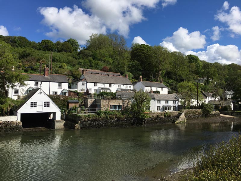 Lived in the tiny village of Helford, Cornwall