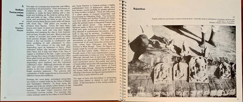 Terracotta, an exhibition and catalog for the Crafts Council of India, Madras